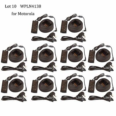 Lot 10 Tri-Chemistry Rapid Charger WPLN4138 for Motorola CP200CP200D Radio