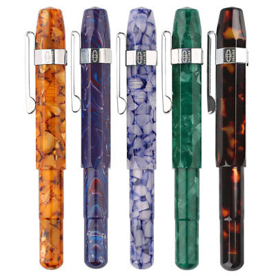 DELIKE Alpha Resin China Fountain Pen Screw Extra Fine 0.38mm/0.5mm Nib Gifts
