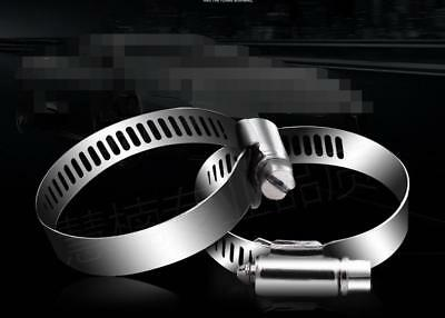 10/50X 304 Stainless Steel Hose Clamp Clip Fuel Petrol Air Hose Pipe 8mm Width