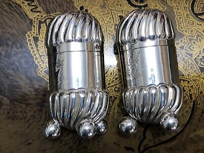Sterling Silver Pepper Pots - Haseler Brothers - Birmingham - 1890