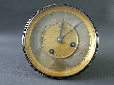 Antique Japy Freres & Cie clock movement bezel dial & hands - repair or spares