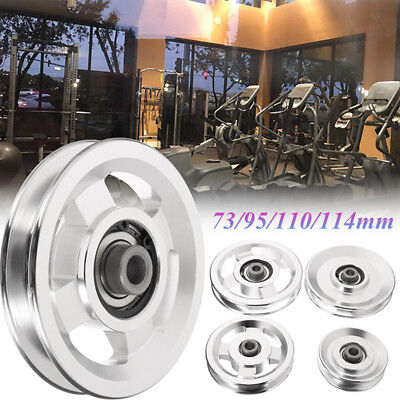 73/95/110/114mm Aluminum Bearing Pulley Wheel Cable Gym Workout Equipment Yoga