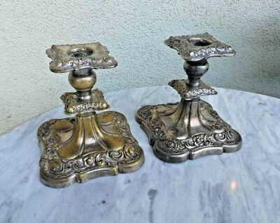 A pair of amazing original antique candlesticks JUDAICA