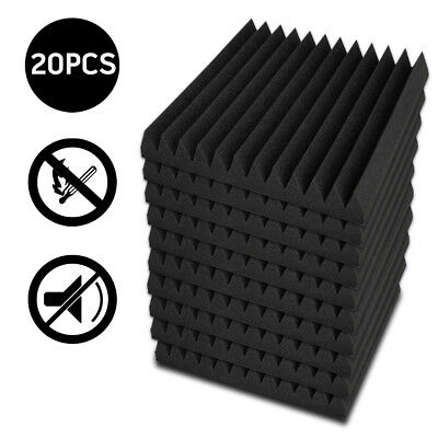 20x Studio Acoustic Foam Panel Tile Sound Absorption Proofing Treatment Wedge AU