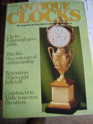 Antique Clocks Mag Sept 1988 English Bracket Clock Patric Capon Trumpeter Flute