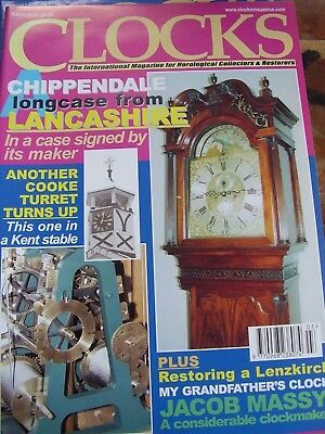 Clocks Magazine - March 2002 Chippendale Longcase Lancashire Cooke Turret