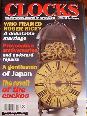 Clocks Mag March 1998 Roger Rice Cuckoo Clocks Michel Eight  Day Longcase