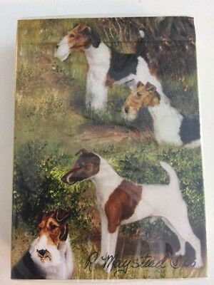 Unopened Deck Of Playing Cards Fox Terrier Dogs Best Friends by Ruth Maystead