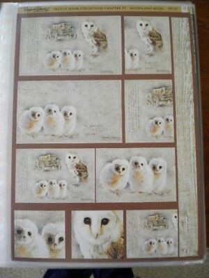 Die Cut Toppers 'Sketch Book Collection' Woodland Birds. Set 1 (4b)