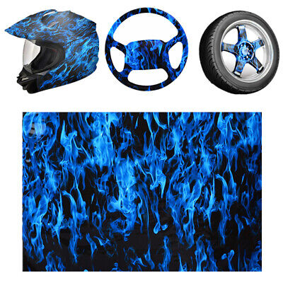 Blue Fire Skull Hydrographic Water Transfer HYDRODIPPING Film Printing DIP Hydro