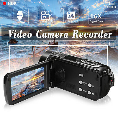 3.0'' HD Touch Digital Video Camera 1080P Camcorder DV Travel Birthday Kids Gift