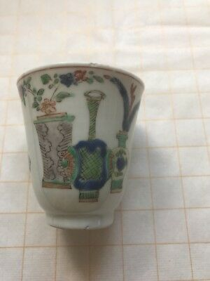 antique chinese famille verte Cup Qing Dynasty Kangxi Period