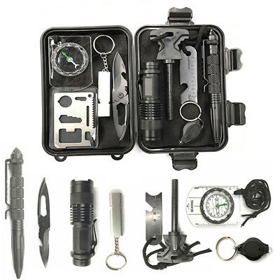 Emergency Survival Equipment Kit Outdoor Sports Tactical Hiking Camping Tool KU