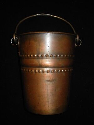 Early 20 Th Century Arts & Crafts Copper & Wrought Iron Ice Bucket