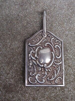 Antique  Solid Silver Sterling Birmingham 1904 Miniature Chatelaine Notebook