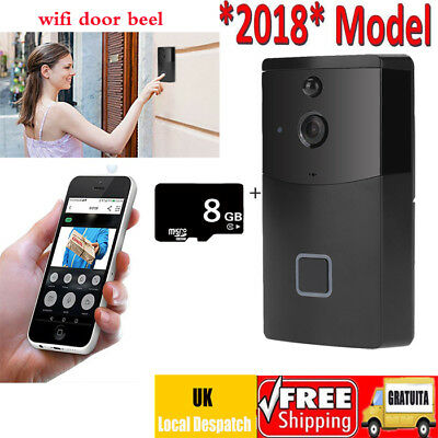 2018 Smart Wifi Doorbell HD IR Wireless Remote Video Camera Phone Door Security