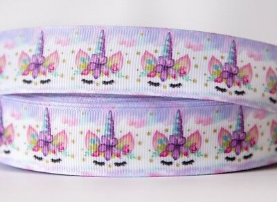 1M X 25mm Grosgrain Ribbon Craft DIY Decorations Hair Bow - Unicorn Purple 🦄