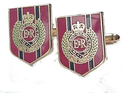 Royal Corps of Engineers Cufflinks Military Cuff Links Shield