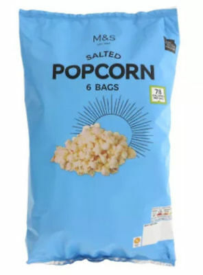 Salted Popcorn - Marks and Spencer 6 x 15g pack