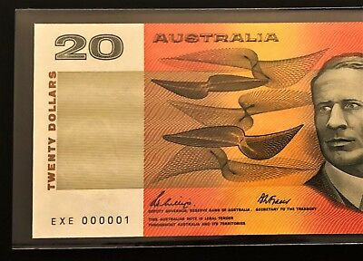 $20 Note ** NUMBER ONE SERIAL ** EXE 000001 ** 1989 Phillips/Fraser ** RARE!!