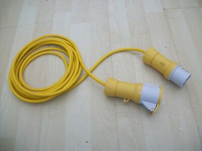 5m 110v Yellow Arctic Grade Hook Up Socket Cable Industrial Site Extension Lead