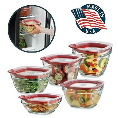 Rubbermaid Easy Find Lids Glass Food Storage Containers BPA Free Made In USA