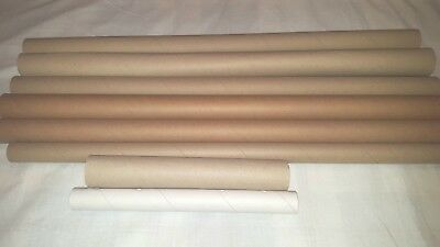 Used Strong Cardboard Tubes Packaging Postal Tubes Crafts 8 Pieces Various Sizes