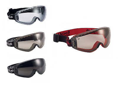 Bolle Pilot Safety Goggles Anti Mist Scratch Eye Protection Various Lens Colours