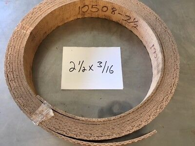WOVEN BRAKE BAND SHOE MATERIAL 2X1//4 HI-FRICTION NON ASBESTOS SOLD BY FOOT