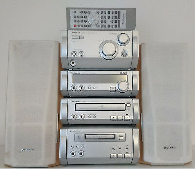 Technics ST-HD515MD Hifi Stereo System Tuner CD MiniDisk Speakers Remote