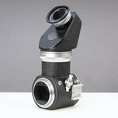~Leica Leitz Visoflex 1 PEGOO 45 Degree Viewer Cable Release Mount 135mm (335)