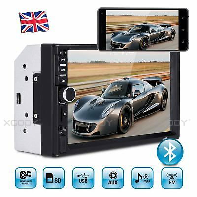 "7"" Car Stereo Radio MP5 MP3 Player Touch Screen 2 DIN USB Bluetooth 4-Channel UK"
