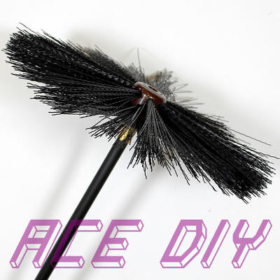 11 Piece Chimney Sweep Set   Flue Sweeping Brush & Rod Kit   Soot Cleaning Rods