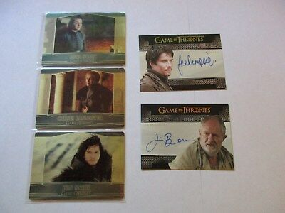 Game of Thrones Season 7 Master Set, Gold Parallel, Archive Box Cards, Sketches