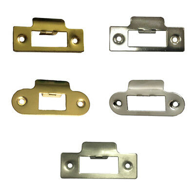 Strike Plate Square Round Single To Use With Tubular Mortice Door Latch