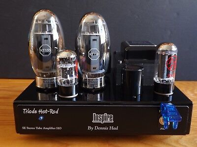 STEREO TUBE AMPLIFIER INSPIRE by DENNIS HAD KT-150 TRIODE SINGLE ENDED AMPLIFIER