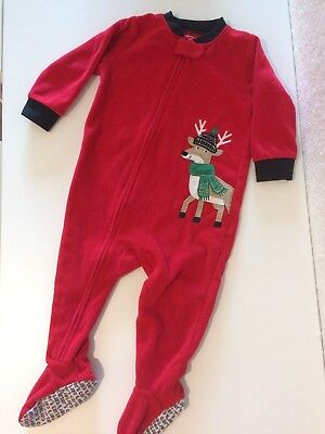 bc7e5717b BABY BOY CARTER S Reindeer Footed One-Piece Pajamas Size 12 Months ...