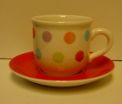 Villeroy Boch BONJOUR (POLKA DOTS) Demitasse Cup Saucer Set NICE More Available