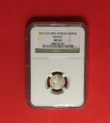 Afghanistan -Unc 1895 (Sh 1313)Abbasi -Certified By Ngc Ms-66..rare Grading.