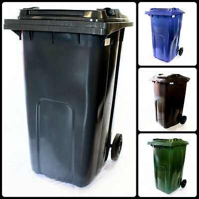 Wheelie Bins 240L Bin General Waste Council Rubbish Household Food Recycling