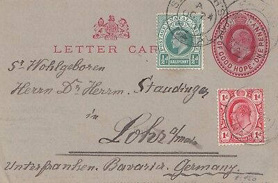 cape of good hope: 1911 letter card to Lohr/Germany