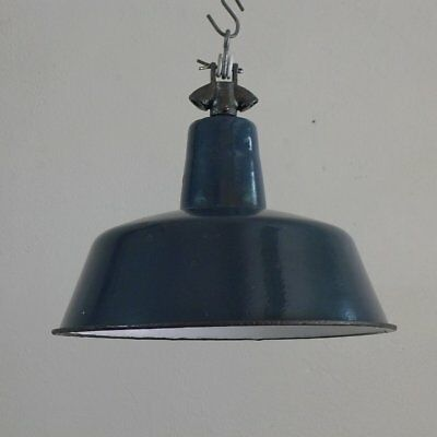 Emaille lampe.Alte Industrielampe.Fabriklampe.Vintage Industrial Lamp.Bauhaus