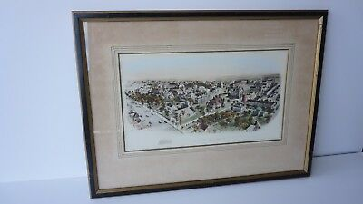 Richard Rummell  Princeton University Original water color print with COA