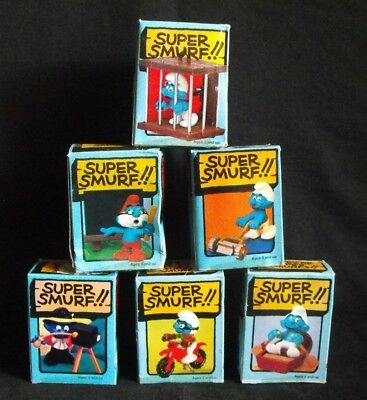 Super Smurf Lot ~ 6 Boxed ~ Never played with! ~ Schleich Peyo