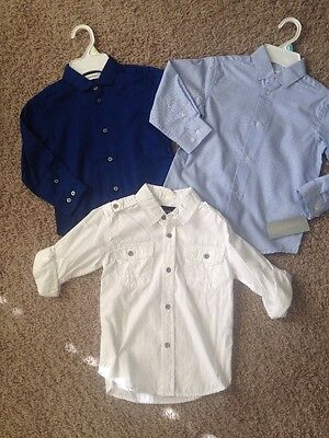 New Calvin Klein Boys Size 4-5 Small Dress Holiday Christmas Shirts School NWT
