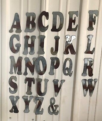 "6"" &-ampersand- Distressed Galvanized Letter"