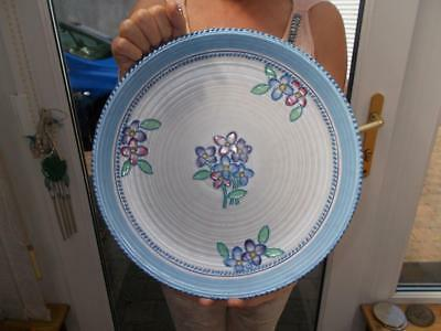 "Very Pretty Crown Ducal Tube Lined Wall Charge Charlotte Rhead Style 12.5"" 31Cm"