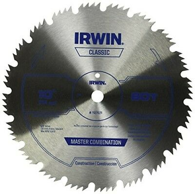 IRWIN Tools Steel Table / Miter Circular Saw Blade, 10-Inch, 80 Tooth (11270ZR)