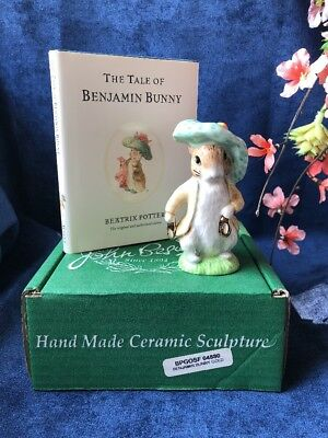 Beswick Ware Beatrix Potter BENJAMIN BUNNY Figurine + BOOK, GOLD SHOES- BOXED1