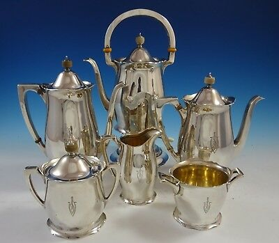 Antique by Wallace Sterling Silver Tea Set 6pc #3370 (#2458)